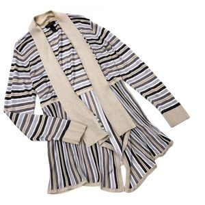 White House Black Market Glitzy Gold Cardigan Wrap
